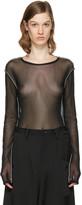 Y's Ys Black Tulle Pullover