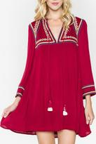 Sugar Lips Embroidered Tassel Dress