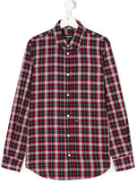 DSQUARED2 checked shirt - kids - Cotton - 14 yrs