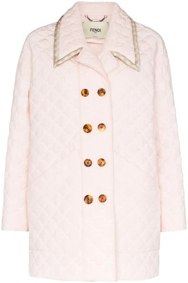 Fendi Light Pink Quilted Jacket