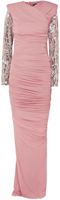 Tom Ford Embellished Ruched Jersey Gown