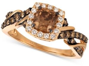 LeVian Le Vian Chocolatier Diamond Ring (1-1/6 ct. t.w.) in 14k Rose Gold