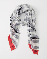 Abercrombie & Fitch Striped Tassel Scarf