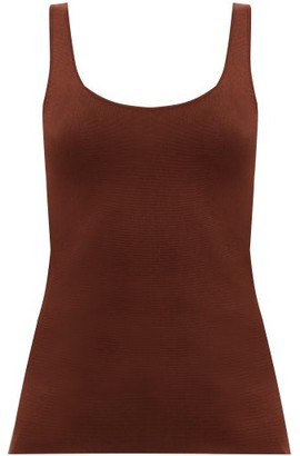 Totême Urda Scoop-neck Jersey Tank Top - Brown