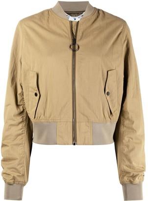 Off-White Graphic-Print Bomber Jacket