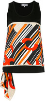 Carven striped tank top - women - Silk/Cotton - S