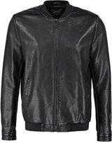 Burton Burton Menswear London Faux Leather Jacket Black