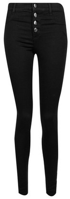 Dorothy Perkins Womens Black Four Button 'Frankie' Jeans, Black