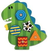 Stephen Joseph Dino Shaped Wooden Peg Puzzle in Green