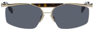 Christian Dior Gold Navigator Psychodelic Sunglasses
