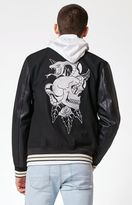 PacSun Skull Varsity Jacket