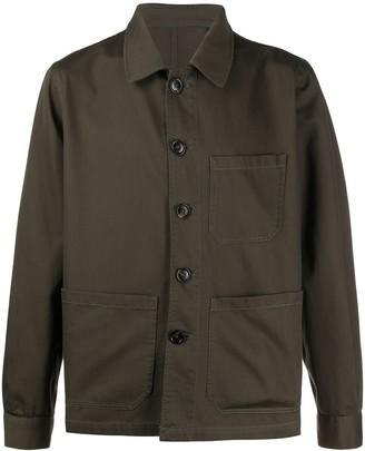 Lardini Buttoned Multi-Pocket Jacket