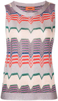 Missoni geometric pattern sleeveless blouse