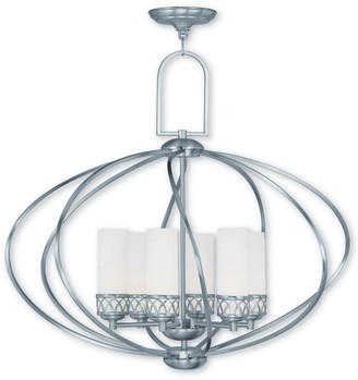 Livex Lighting Livex Westfield 6-Light Brushed Nickel Chandelier