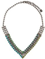 Dannijo Crystal & Chain V-Collar Necklace