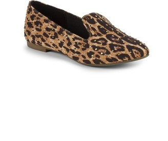 Steve Madden Girl's Jfeather Leopard-Print Loafers