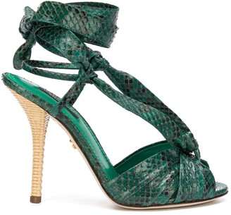 Dolce & Gabbana Emerald Sandal Python Leather