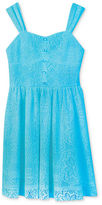 Amy Byer Kids Dress, Girls Lace Overlay Dress