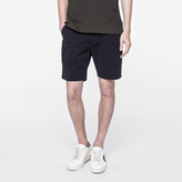 Paul Smith Men's Navy Garment-Dyed Stretch-Cotton Shorts