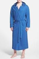 Majestic International Men's Pique Cotton Hooded Robe