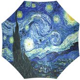 Van Gogh's Painting Umbrella Christmas Gifts Artworks Van Gogh Artworks Starry Night 100% Fabric And Aluminium Foldable Umbrella