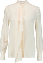 Agnona Ruffled silk crepe de chine blouse