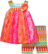 Youngland Young Land Sleeveless Crochet Dress and Shorts Set- Preschool Girls 4-6X