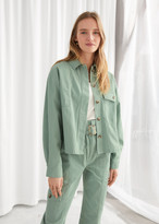 And other stories Oversized Cotton Patch Pocket Jacket