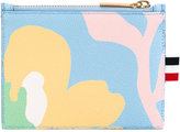 Thom Browne abstract floral zipped purse - women - Cotton/Leather - One Size