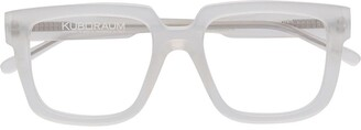 Kuboraum Square-Frame Clear-Lens Glasses