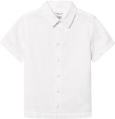 Cyrillus White Linen Short Sleeve Shirt