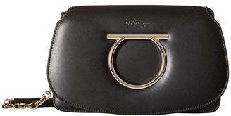 Salvatore Ferragamo Mini Convertible Clutch (Nero) Handbags