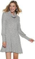 American Rag Juniors' Long Sleeve Deep Cowl Neck Dress