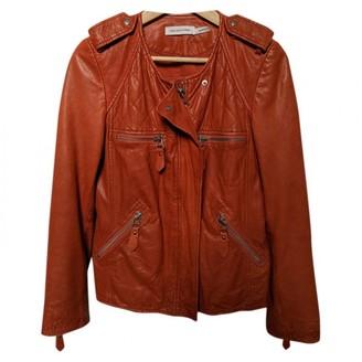 Etoile Isabel Marant Orange Leather Leather jackets