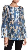 Lafayette 148 New York Katerine Abstract Silk Blouse
