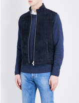 Corneliani Quilted suede gilet