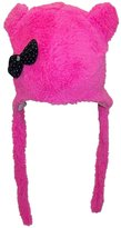 Best Winter Hats BWH Baby Girl Fleece Fuzzy Winter Hat w/Ears & Jeweled Polka Dot Bow(One Size)