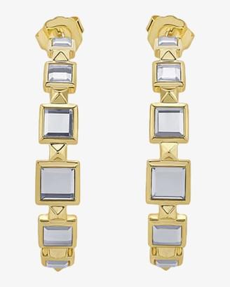Isharya Limelight Pyramid Hoop Earrings