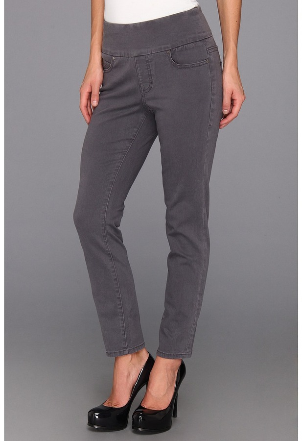 Jag Jeans Amelia Pull-On Ankle in Pewter (Pewter) - Apparel