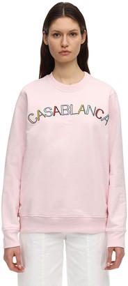 Casablanca Casa Arch Logo Cotton Jersey Sweatshirt