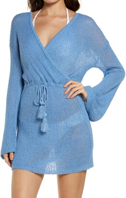 L-Space Topanga Long Sleeve Cover-Up Sweater Dress