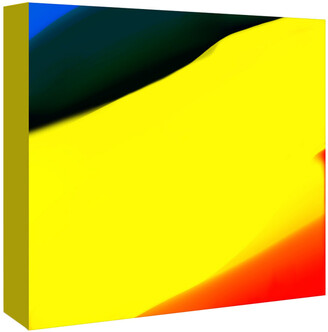 American Flat Americanflat Blue Yellow And Red Abstract By Kasi Minami Canvas Artwork