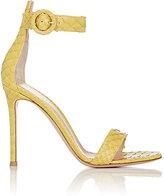 Gianvito Rossi Women's Portofino Ankle-Strap Sandals-YELLOW