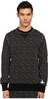 Vivienne Westwood Linear Print Frankenstein Crew Neck Sweatshirt