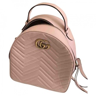 Gucci Marmont Pink Leather Backpacks