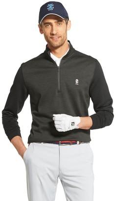 Izod Men's Sportswear Ribbed Fleece Quarter-Zip Golf Pullover