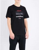 Stussy 1980 tour-print cotton-jersey t-shirt