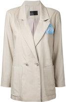N Duo - slouch blazer - women - Linen/Flax - 36