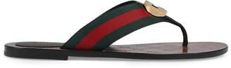 Gucci GG Web sandals
