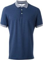 Brunello Cucinelli striped collar polo shirt - men - Cotton - XL